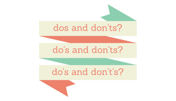grammar dos and don'ts