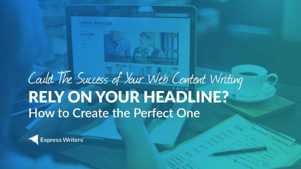 web writing with headlines