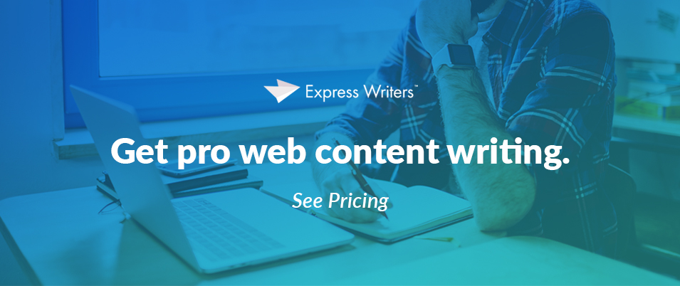 web content writing services CTA