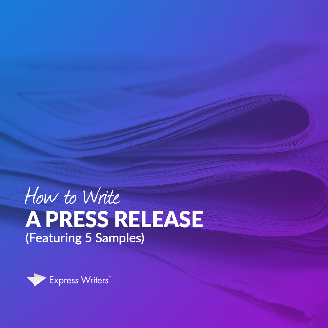 writing a press release sample