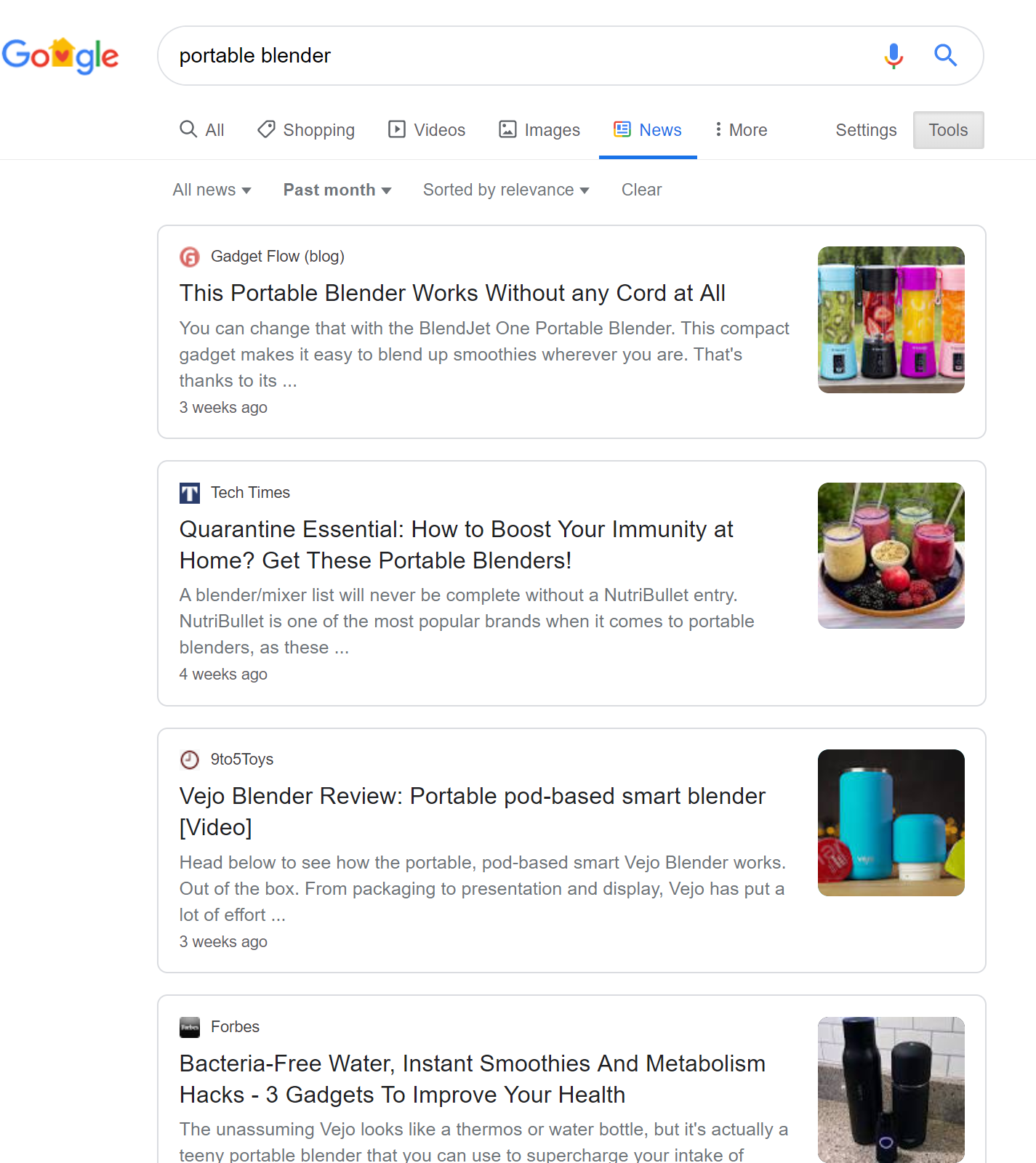 Search for publications on Google to release a press release