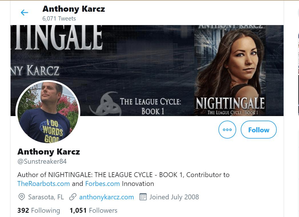 Journalist Twitter bio