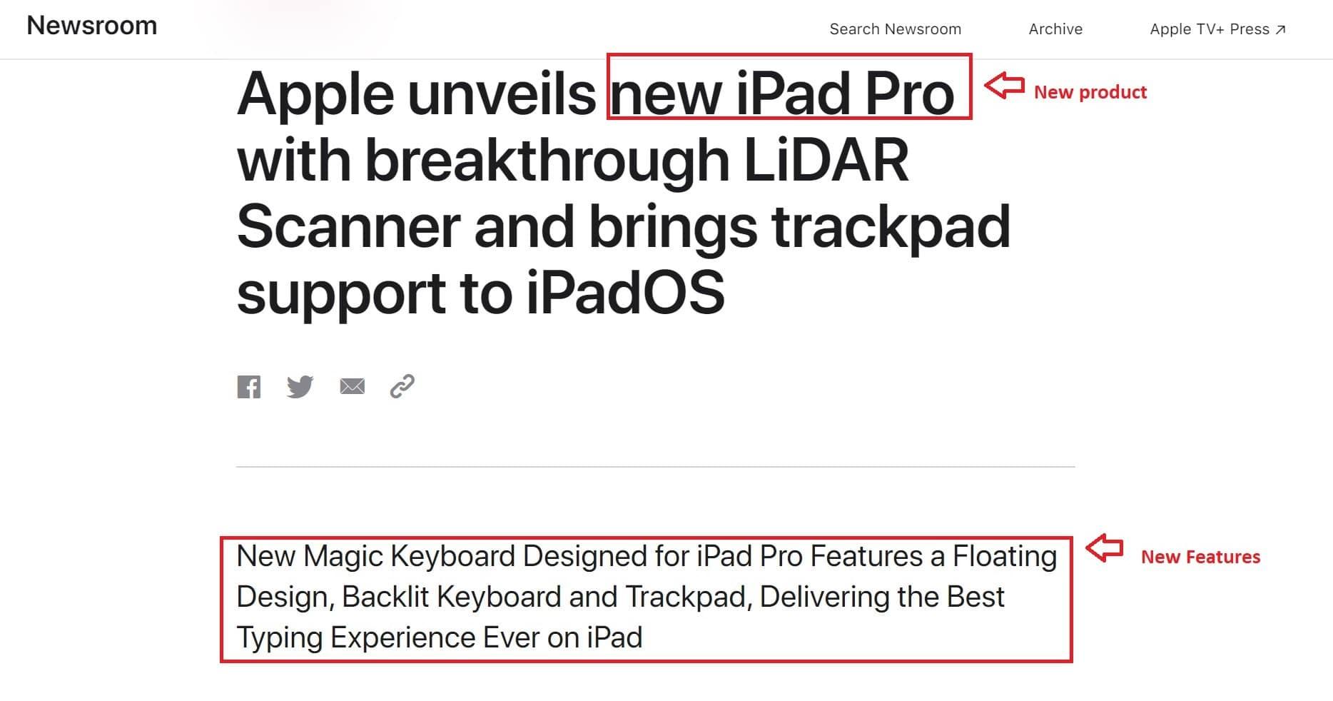 Apple press release example