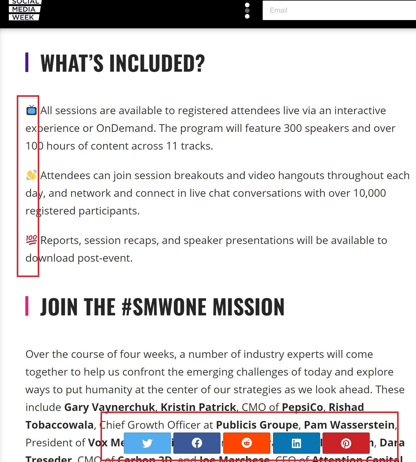 press release example from Social Media Week