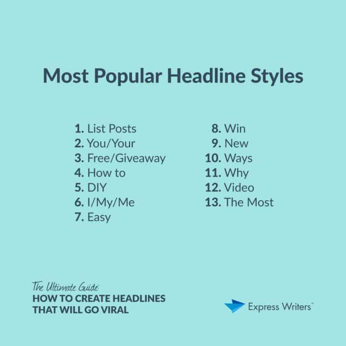 popular headline styles
