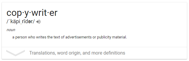 what is a copywriter
