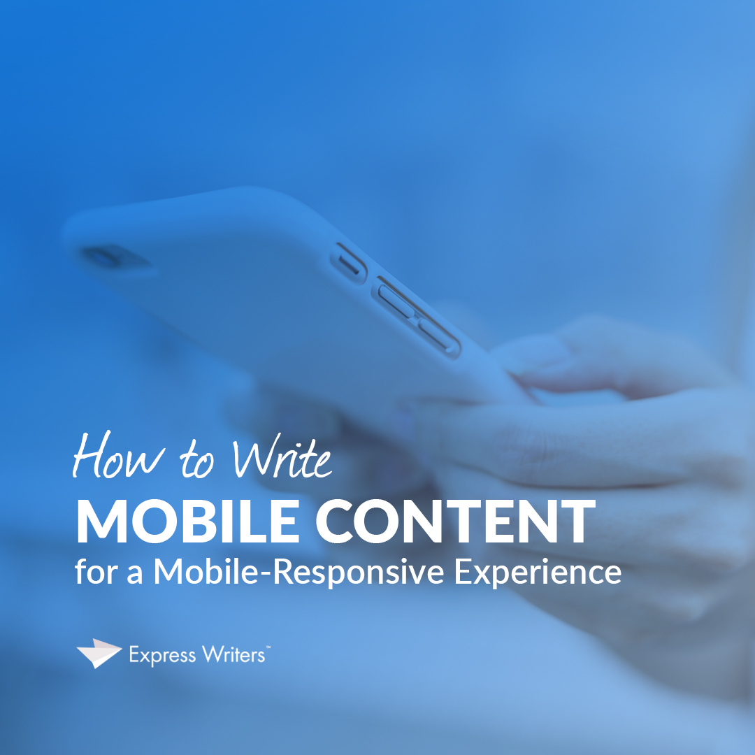 how to write mobile content