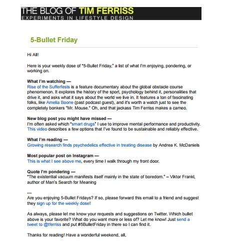 tim ferriss email