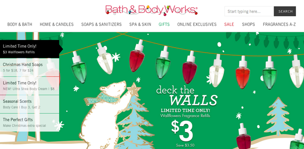bath and body works website