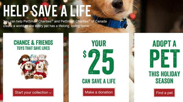 petsmart donation