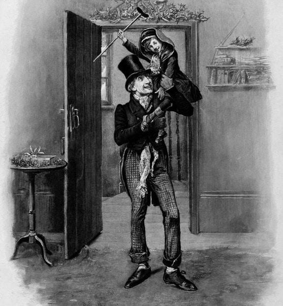 "Tiny Tim, from an 1870s printing of ""A Christmas Carol."" Credit: Frederick Barnard (1846-1896)"