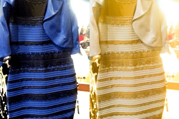 Black and blue or white and gold dresses
