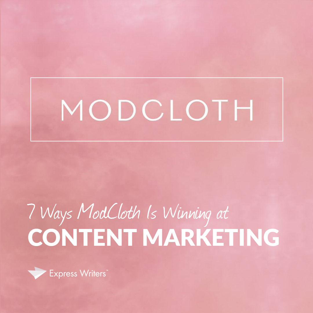 content marketing, Modcloth