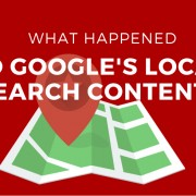 Google's local search changes