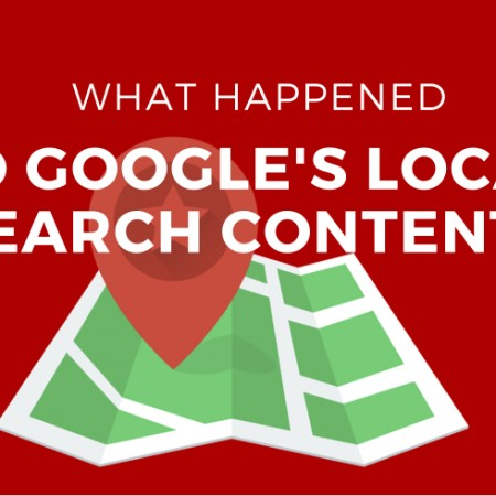 What Happened to Google's Local Search Content? Big Ranking Changes