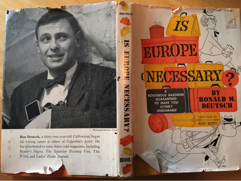 Thousands of years ago in the 1960s, writers had to publish their stuff on things called books. My dad, Ronald M. Deutsch, wrote a bunch of them.
