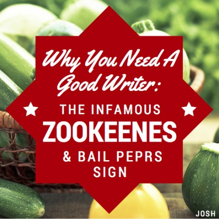 Why You Need A Writer: The Infamous Zookeenes & Bail Peprs Sign