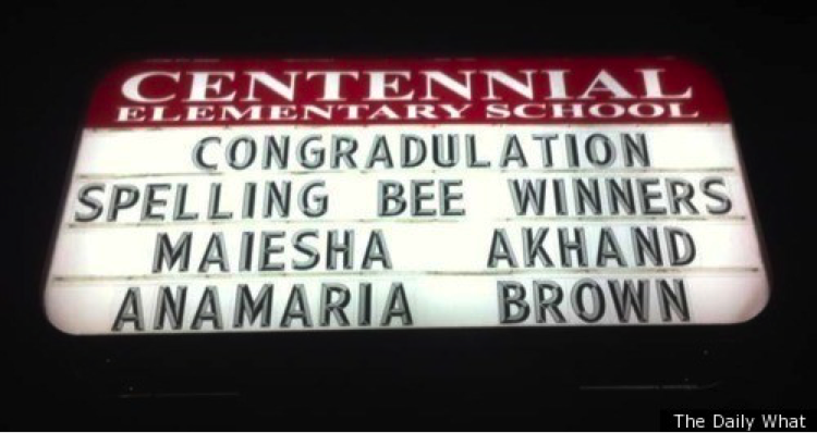 misspelled spelling bee