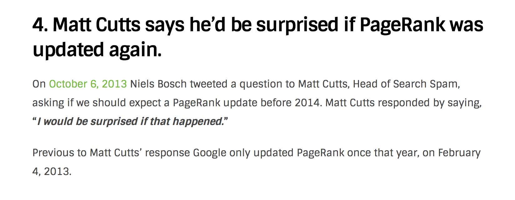 matt cutts on pagerank