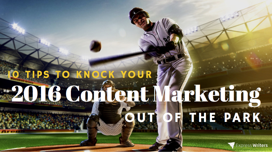 content marketing in 2016