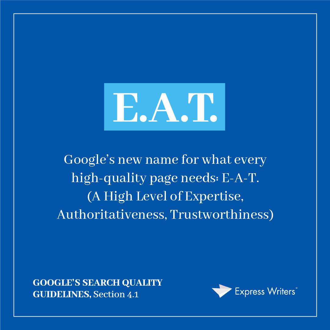 EAT YMYL Google's Search Quality Evaluator Guidelines