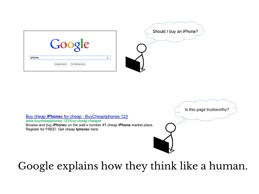 google's search thinks like a human