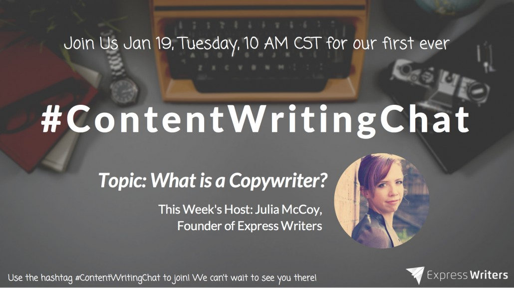#ContentWritingChat twitter chat