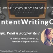#ContentWritingChat first twitter chat