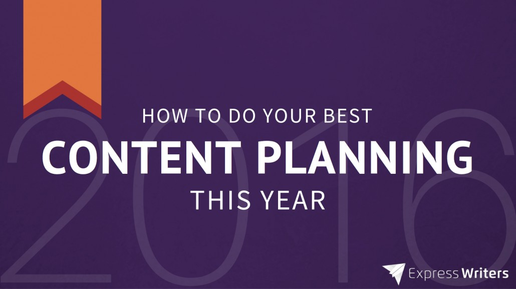 content planning 2016