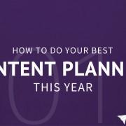 content planning 2016