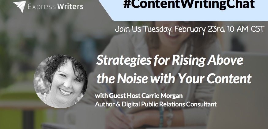 #ContentWritingChat with Carrie Morgan