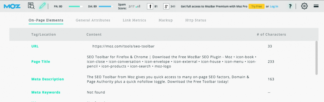 Expanded Moz Screenshot
