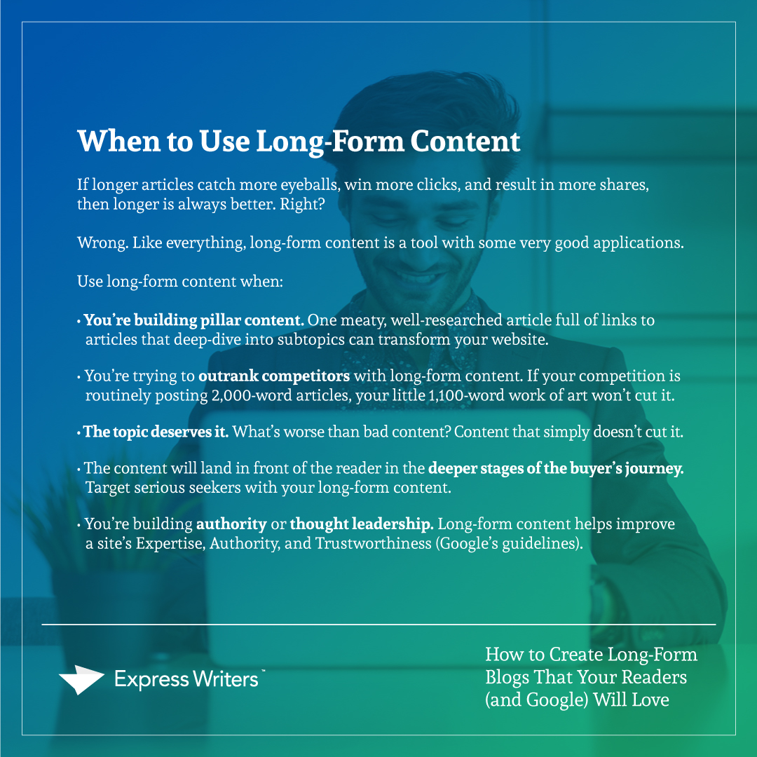 how to create long-form blogs quote