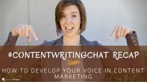 #ContentWritingChat recap