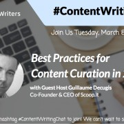 #ContentWritingChat with Guillaume Decugis