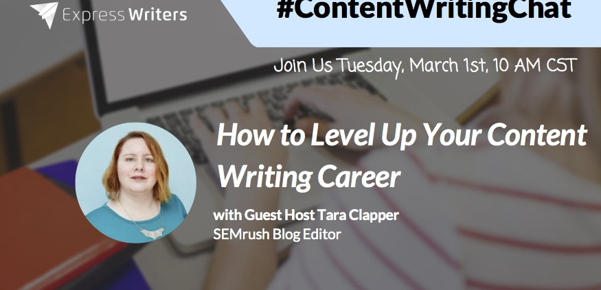 #ContentWritingChat with Tara Clapper