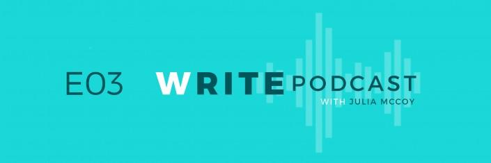 E03 Write Podcast Website Cover Featured Image