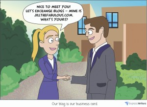 blog is our business card illustration