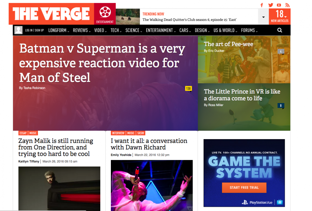 The Verge Screenshot