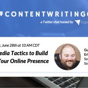 #ContentWritingChat, social media tactics