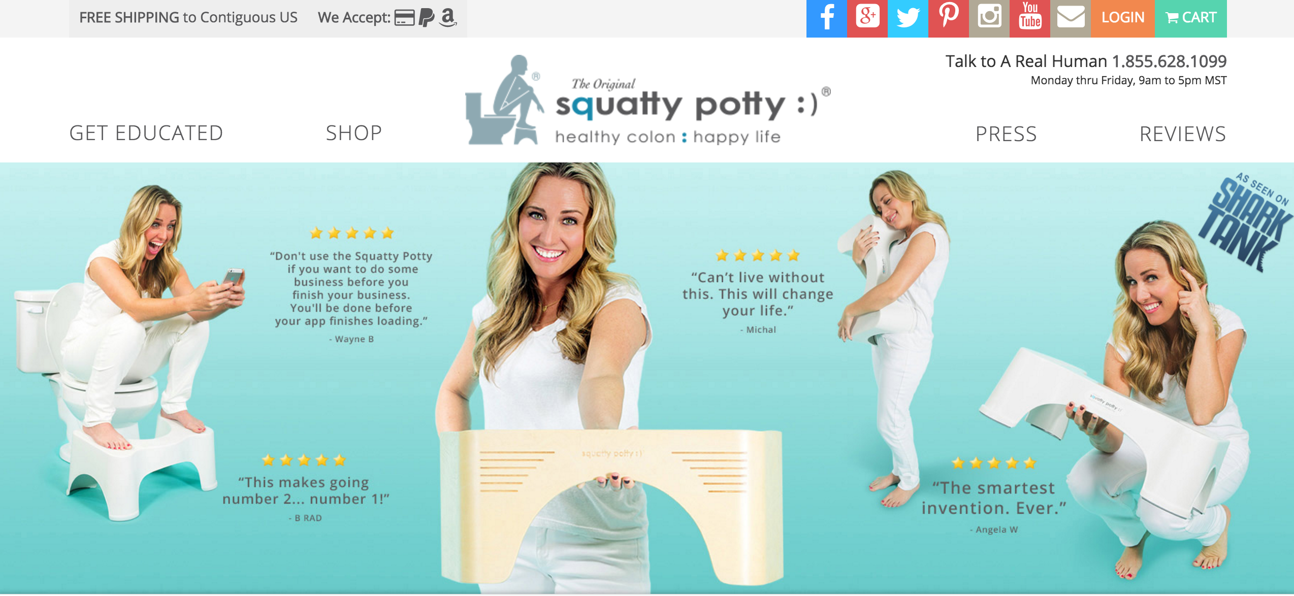 squatty potty content marketing
