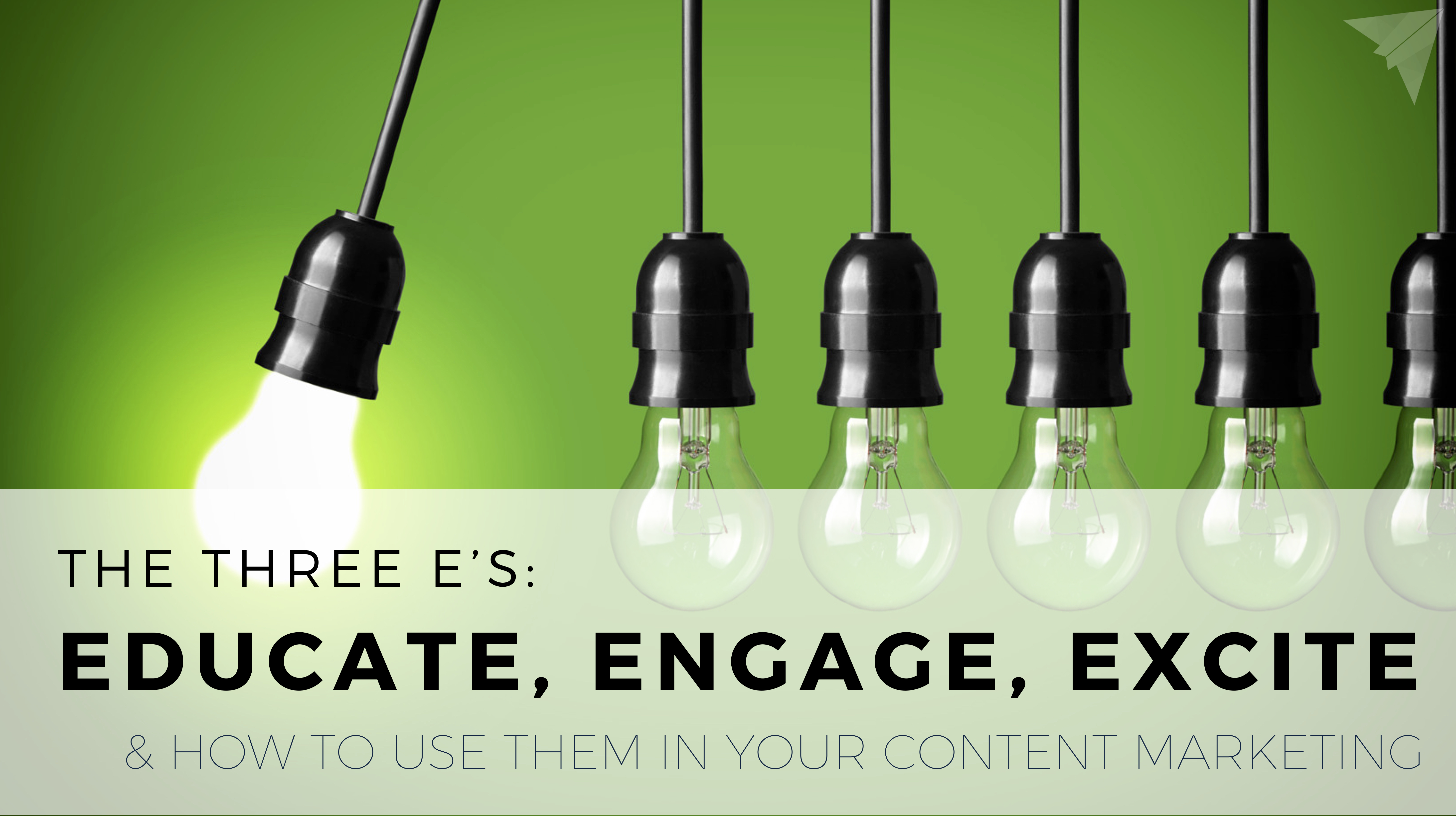 the three es of content marketing