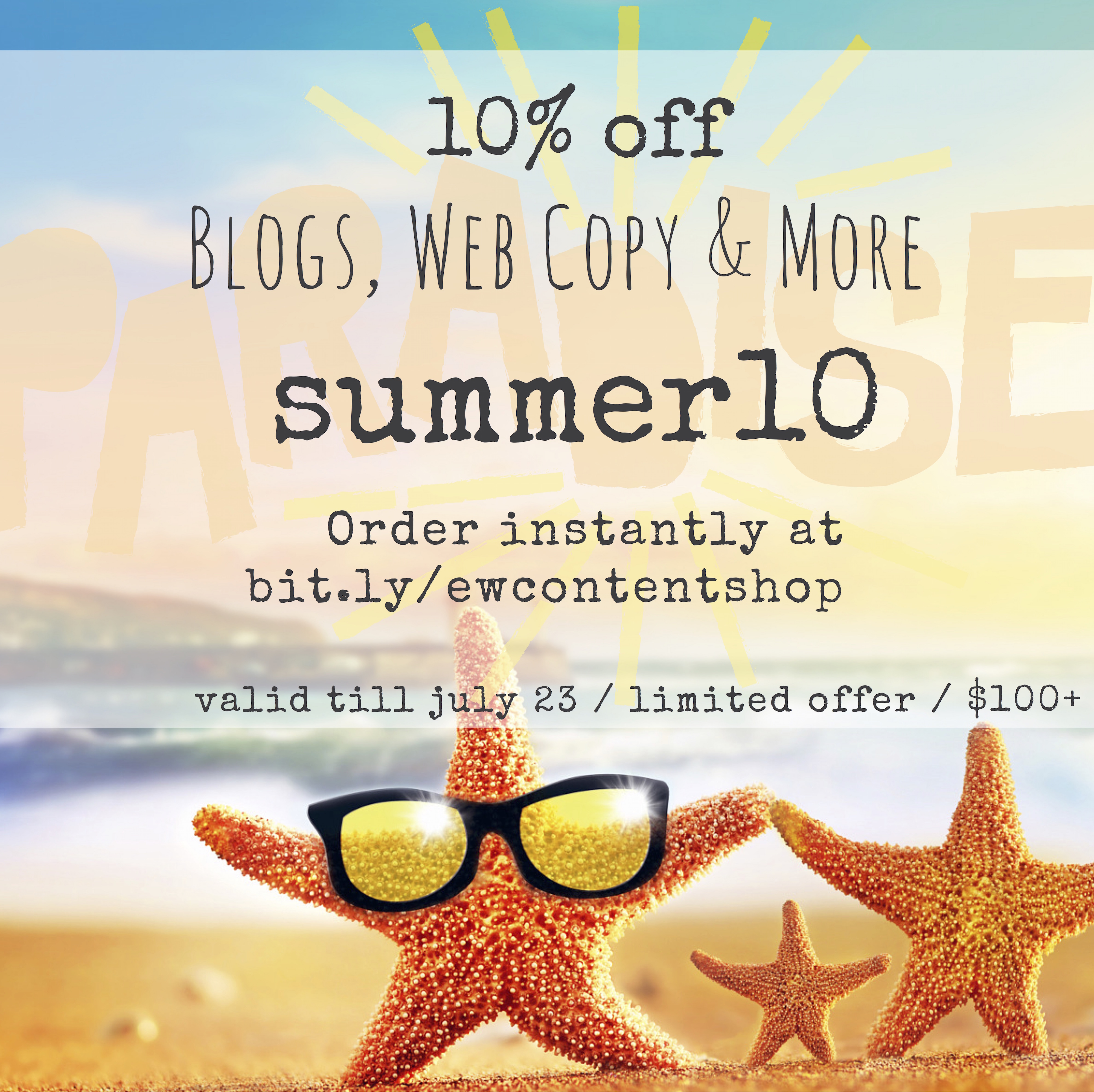 10 off blogging