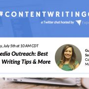 #ContentWritingChat, social media outreach