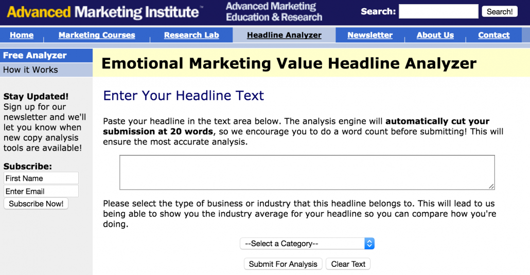 advanced marketing institute headline