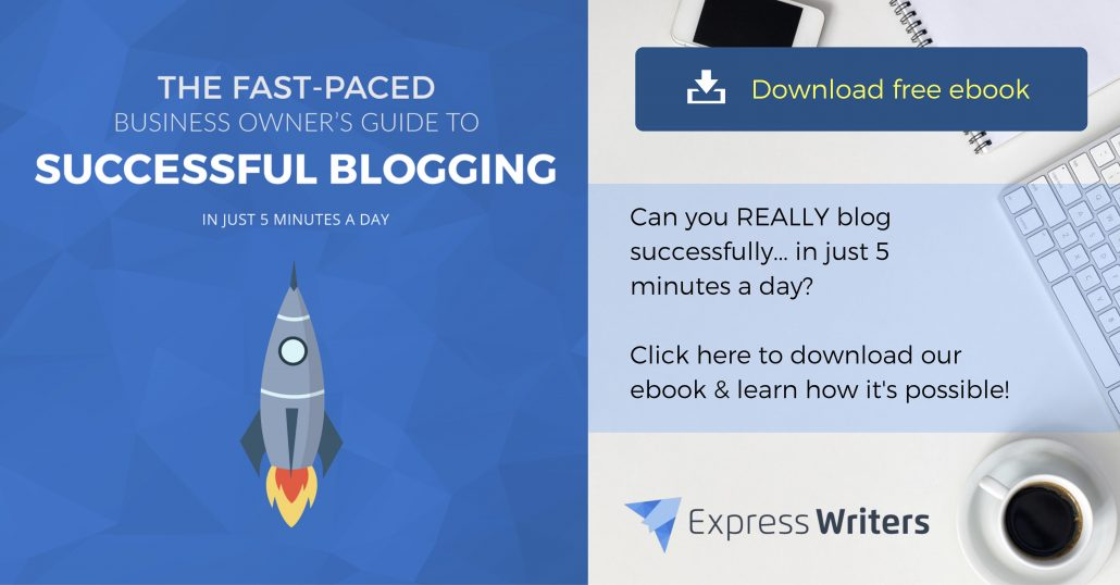 blogging in 5 minutes a day