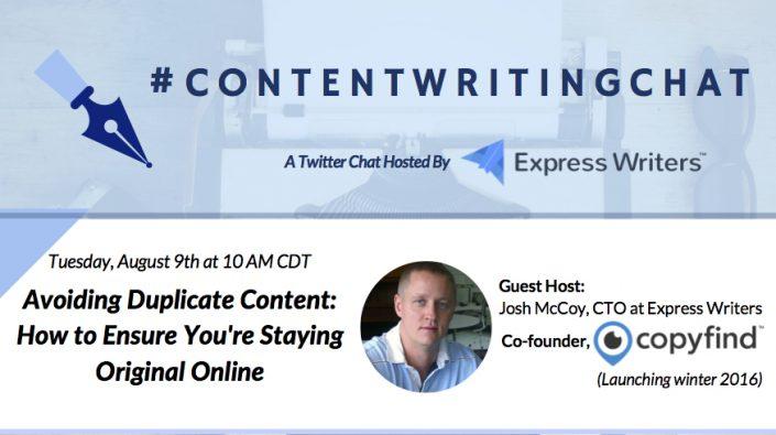 #ContentWritingChat, avoiding duplicate content