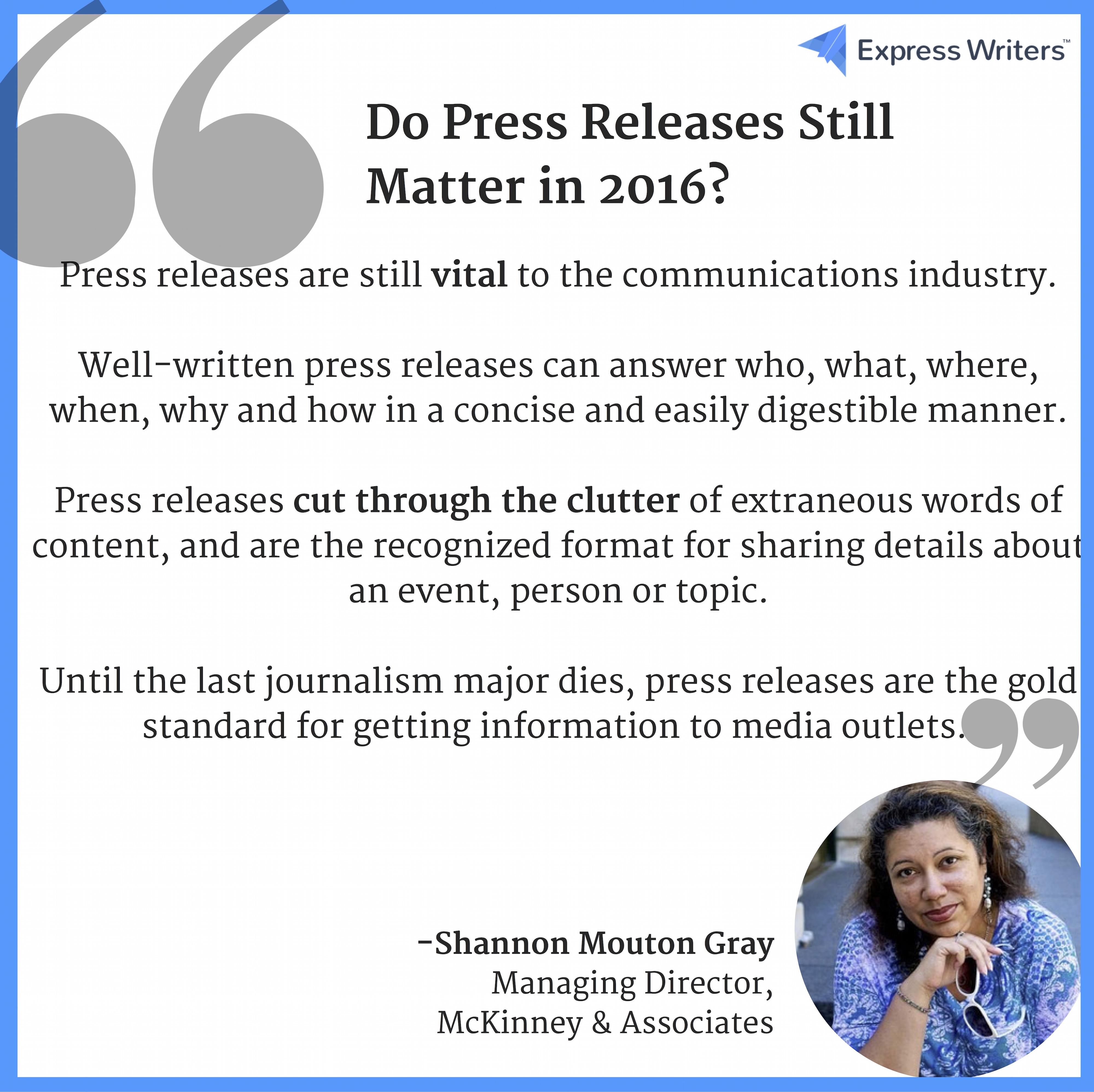 press releases still matter