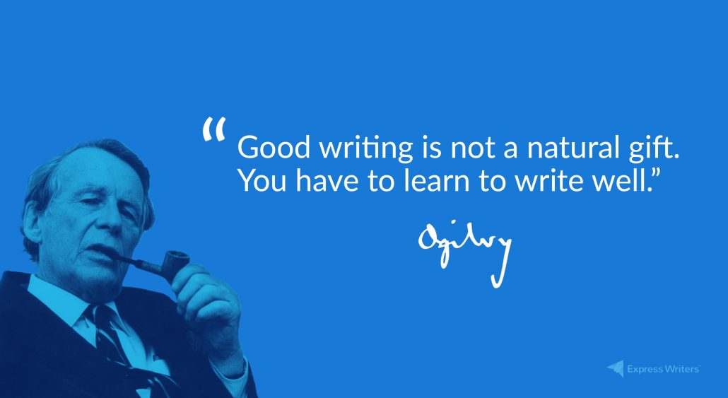 good writing is not a natural gift