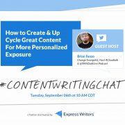 Brian Fanzo #ContentWritingChatgraphics